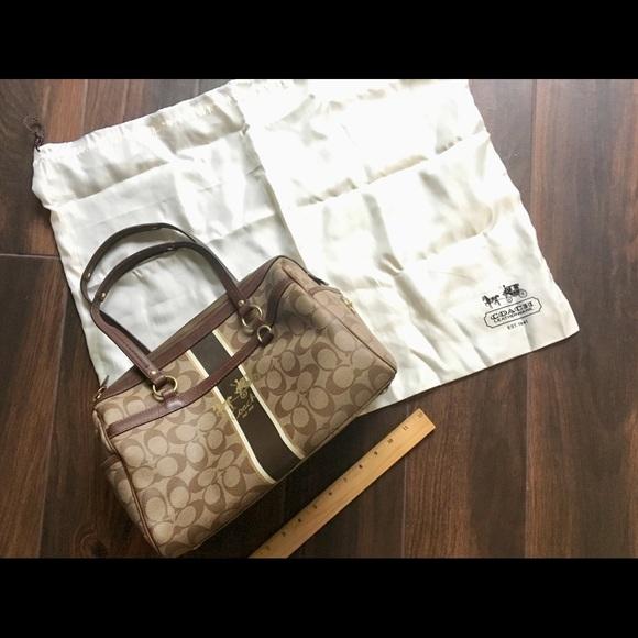 Coach Handbags - Coach signature satchel with dust bag